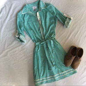 Max Studio MSSP polka dot dress small vintage 50s